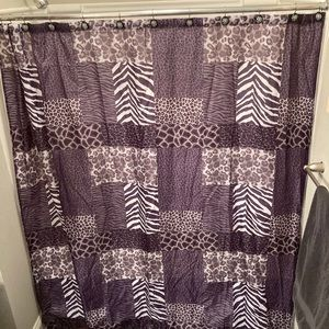 Exotic animal print shower curtain
